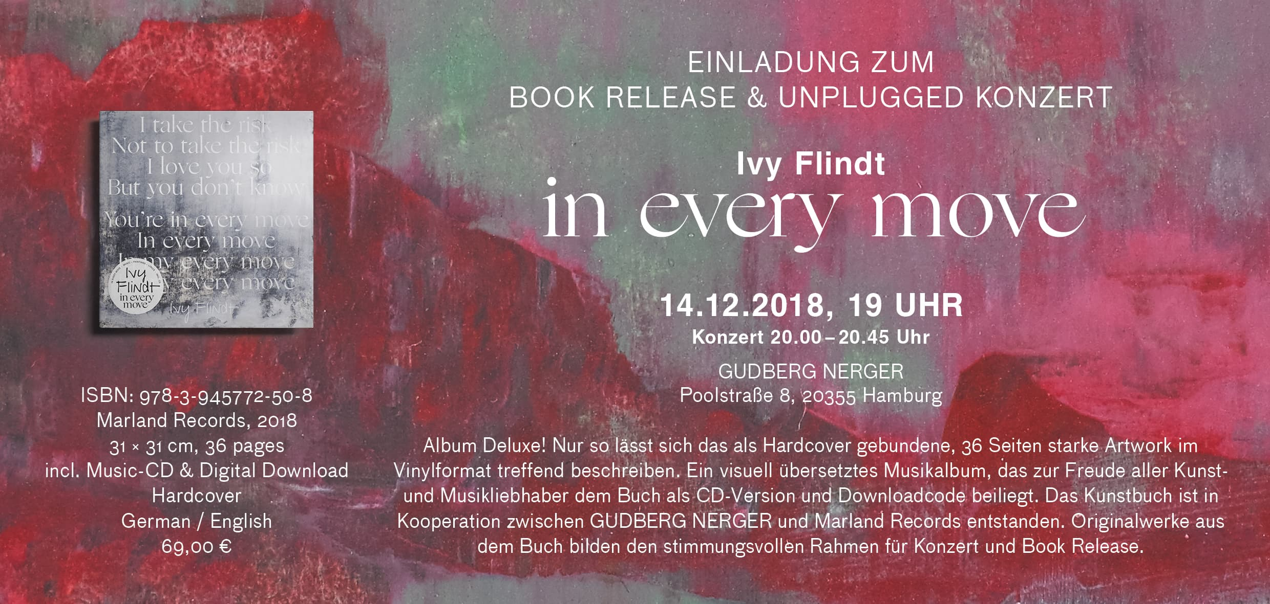 14.12.2018 7 pm ARTBOOK RELEASE, PAINTINGS and CONCERT